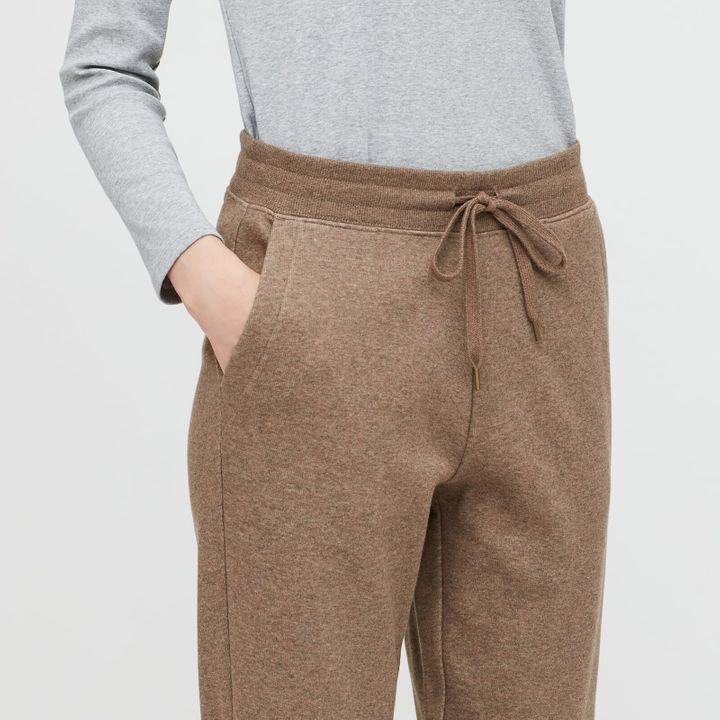 Pile-lined sweatpants