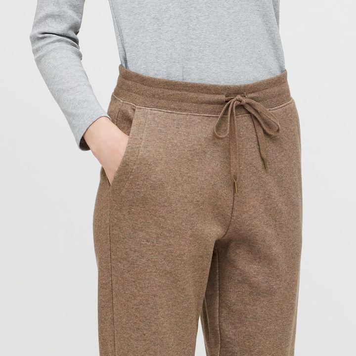 Pile-lined sweatpants
