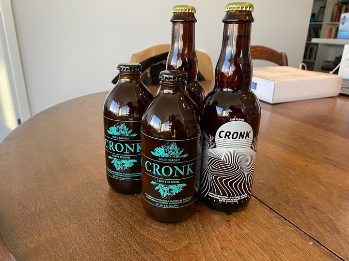 Two bottles of Cronk and two bottles of Modern Cronk.