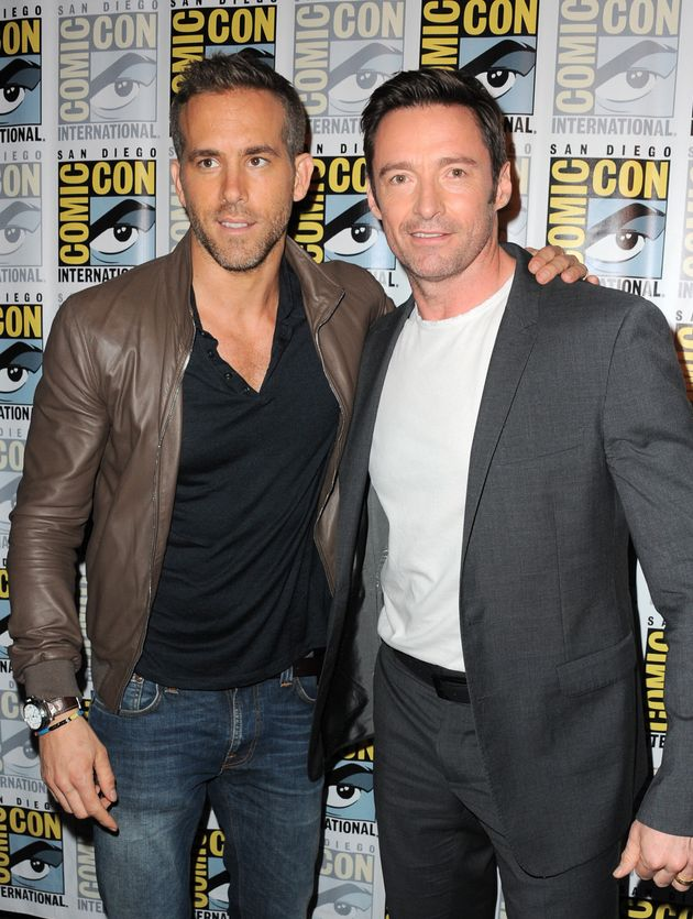 Actors Ryan Reynolds and Hugh Jackman, pictured in