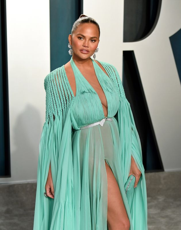 Chrissy Teigen at an Oscars after-party earlier this