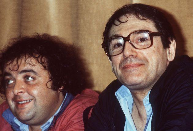 Photo prise en mai 1981 lors du festival international du film de Cannes des comédiens Jacques Villeret...