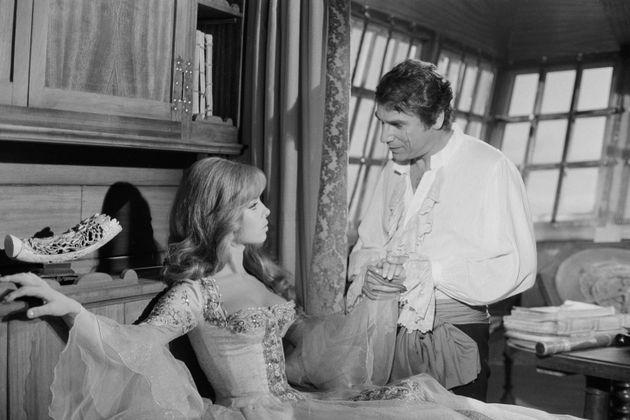 Michèle Mercier et Robert Hossein sur le tournage du film