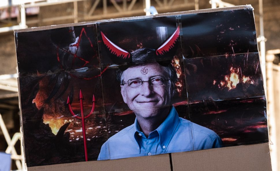Coronavirus conspiracy theorists have turned billionaire philanthropist Bill Gates into a supervillain amid the pandemic.