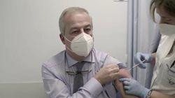 Franco Locatelli si vaccina:
