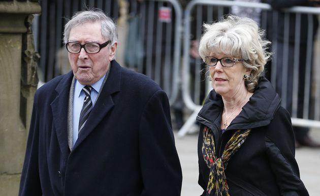 Mark Eden with wife Sue Nicholls pictured in