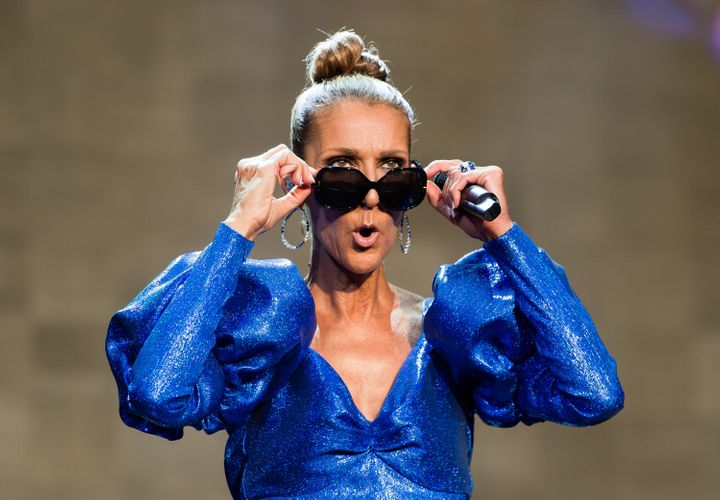 Celine Dion performs live at Hyde Park in London on July 5, 2019.