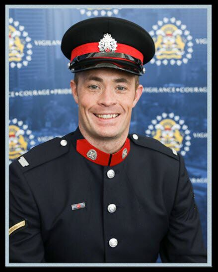 Sgt. Andrew Harnett, 37, of the Calgary Police Service is shown in this undated handout image.