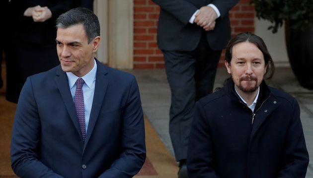 Pedro Sánchez y Pablo Iglesias, en una imagen de