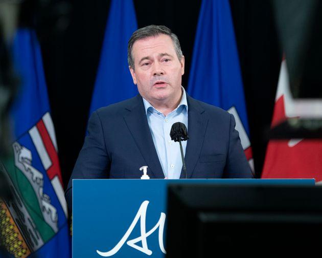 Premier Jason Kenney speaks during a news conference in Edmonton on Dec. 18,
