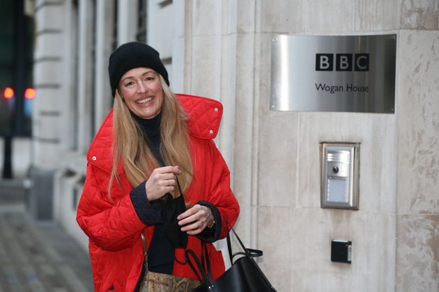 Cat Deeley arrives at Wogan House in London to make her BBC Radio 2