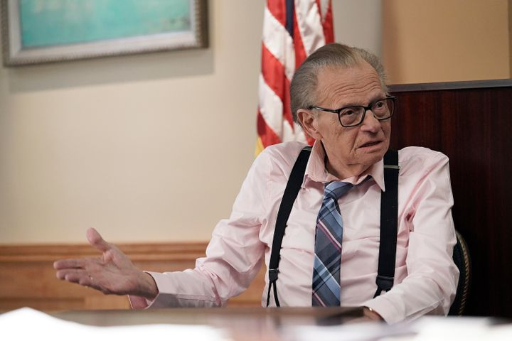 Guest star Larry King in LETS BE REAL on Fox.