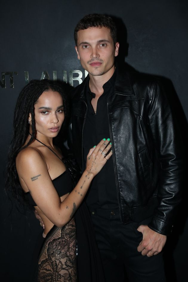 Kravitz and Glusman pictured together at Paris Fashion Week in