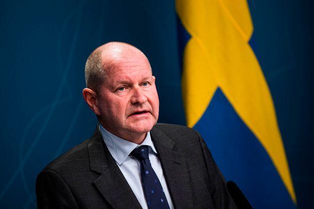 Dan Eliasson, responsable de la Agencia de Contingencias Civiles de Suecia, el pasado marzo, en una rueda...