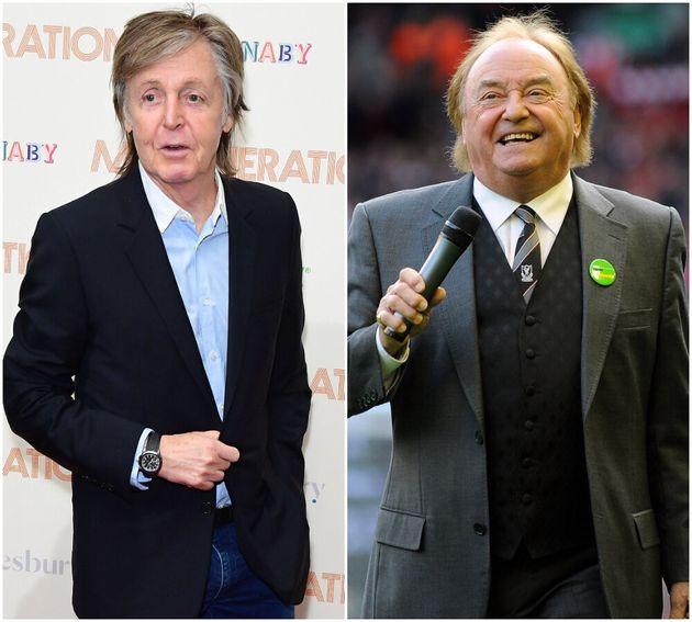 (L-R) Paul McCartney and Gerry