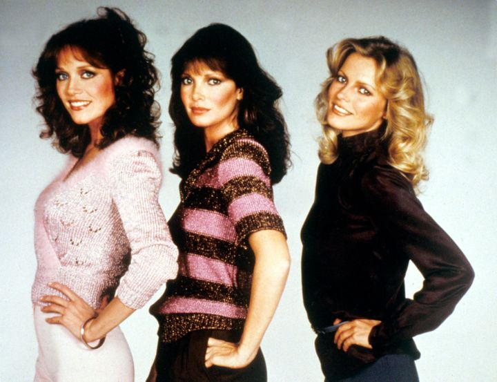 """Tanya Roberts (left) with """"Charlie's Angels"""" co-stars Jaclyn Smith and Cheryl Ladd"""