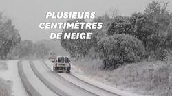 Il neige à gros flocons dans le Sud, y compris à basse