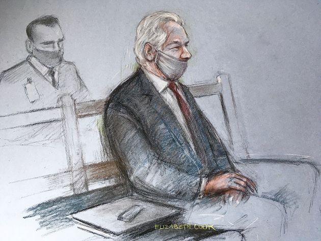 Julian Assangerisque aux États-Unis 175 ans de prison s'il est reconnu coupable des crimes...