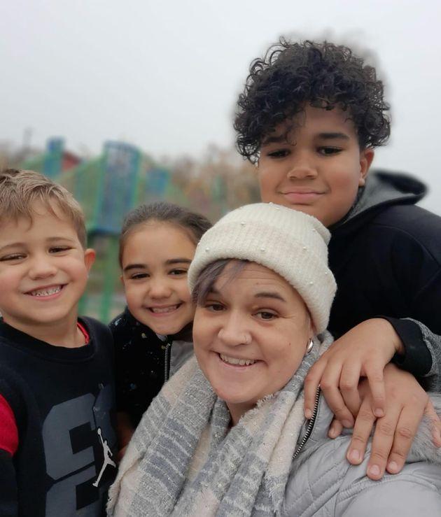 Terri-Anne Hamer with her three