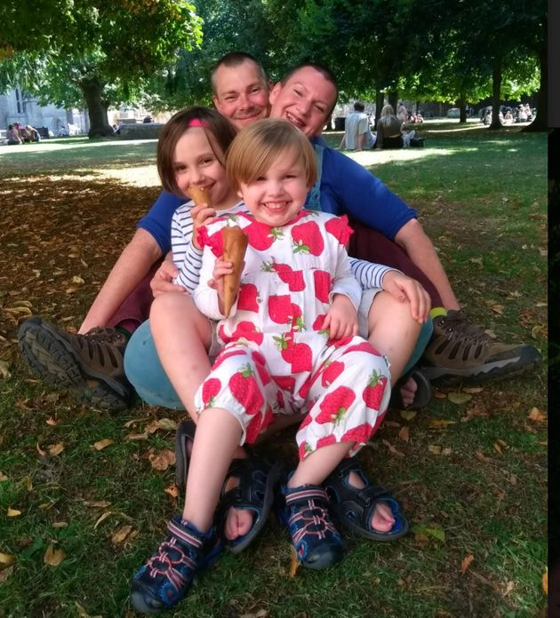 Laura Jackson with her partner Craig and their two