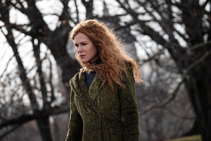 """Nicole Kidman's character in a much-talked-about green coat from HBO's recent limited series, """"The Undoing."""""""