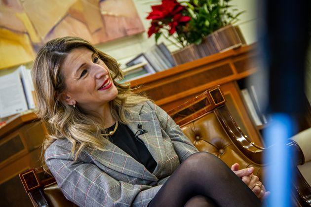 Yolanda Díaz, durante la