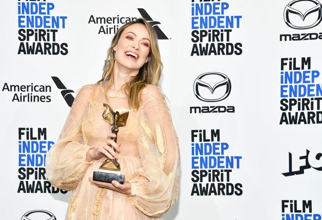 インディペンデント・スピリット賞で新人作品賞を受賞したワイルド氏(2020年2月8日)