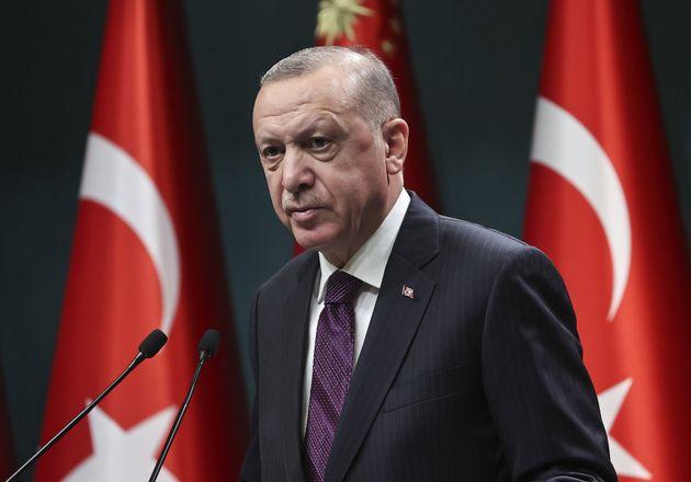 ANKARA, TURKEY - DECEMBER 28: President of Turkey Recep Tayyip Erdogan makes statements after cabinet...