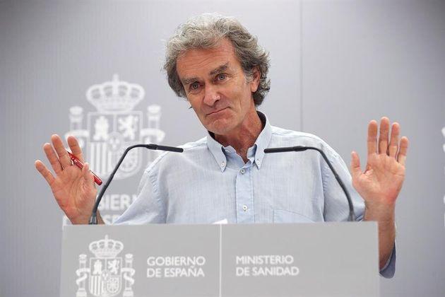 Fernando Simón en una de las ruedas de prensa sobre los datos del