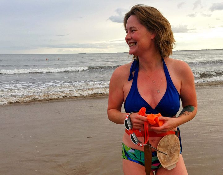 The author, Gill Castle, is now a triathlete