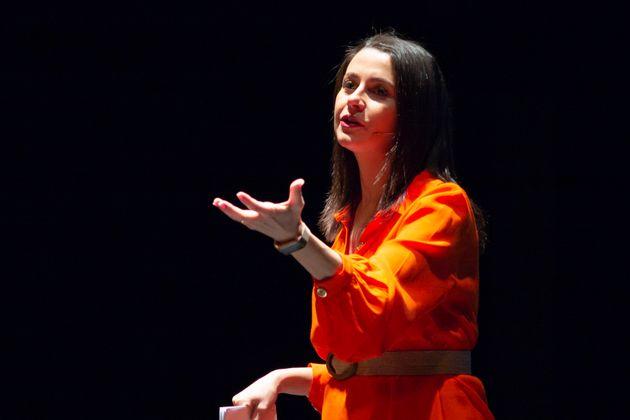 Inés Arrimadas, líder de Cs, durante la presentación de su candidatura para hacerse...