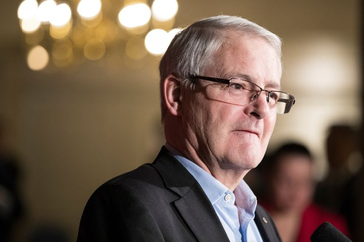 Transport Minister Marc Garneau speaks to the media in Calgary, Alta., Jan. 24, 2017. The travel industry is hitting back at Garneau's announcement of a mandatory COVID test for Canadians returning from abroad.