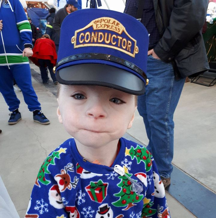 Braeden Lousier is seen here in this undated handout photo. The nine-year-old Alberta boyis one of 100 people in the world to be diagnosed with a rare inherited connective tissue disease called Hajdu-Cheney syndrome.