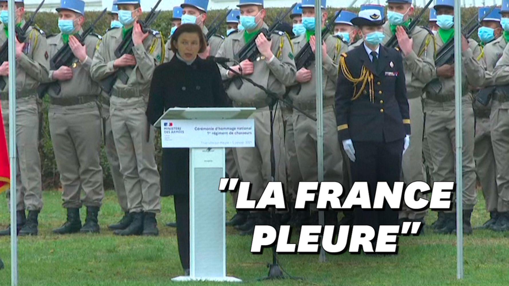 À Thierville-sur-Meuse, l'émotion de Parly lors de l'hommage aux soldats morts au Mali