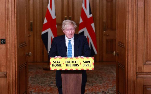 Prime Minister Boris Johnson during a media briefing on coronavirus (COVID-19) in Downing Street,
