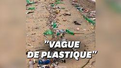 À Rio de Janeiro, une déferlante de déchets plastiques s'est échouée sur la