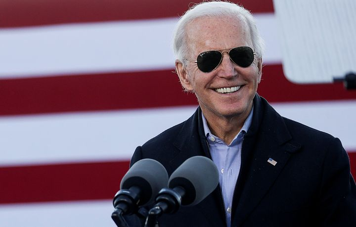 President-elect Joe Biden jokingly thanks Georgia for certifying his victory three times as he campaigns on behalf of Democra