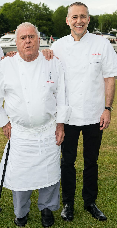 (L-R) Albert Roux and Michel Roux
