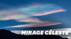 Des nuages arc-en-ciel filmés dans le ciel en