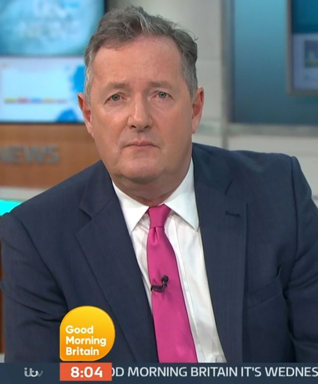 Piers Morgan in the Good Morning Britain