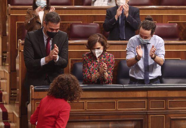 Sánchez, Calvo, Iglesias y
