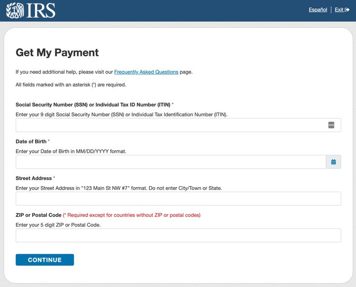 """Check your payment status with the IRS&nbsp;<a href=""""https://www.irs.gov/coronavirus/get-my-payment"""" target=""""_blank"""" rel=""""noopener noreferrer"""">Get My Payment</a>&nbsp;tool."""