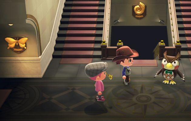 Animal Crossing attire les musées qui peuvent téléverser des photos de leurs oeuvres. Ici, le musée d'Angers...