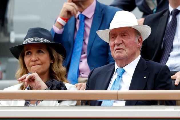 El rey emérito Juan Carlos I y la Infanta