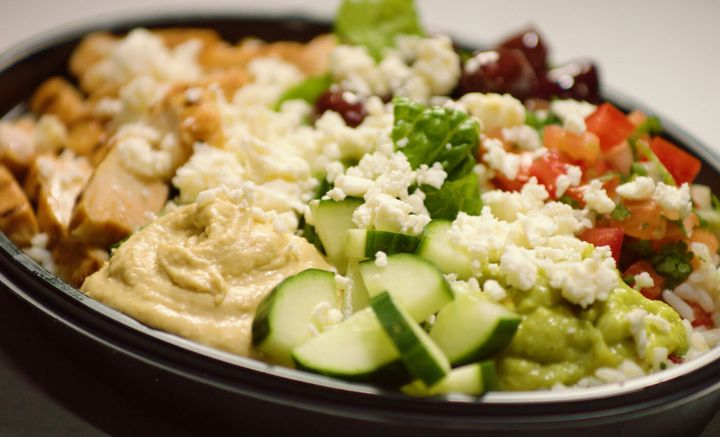 "The vegetarian power bowl at Taco Bell is a go-to for registered dietitian nutritionist Amy Gorin: ""I like that it's a balanced meal in a bowl."""