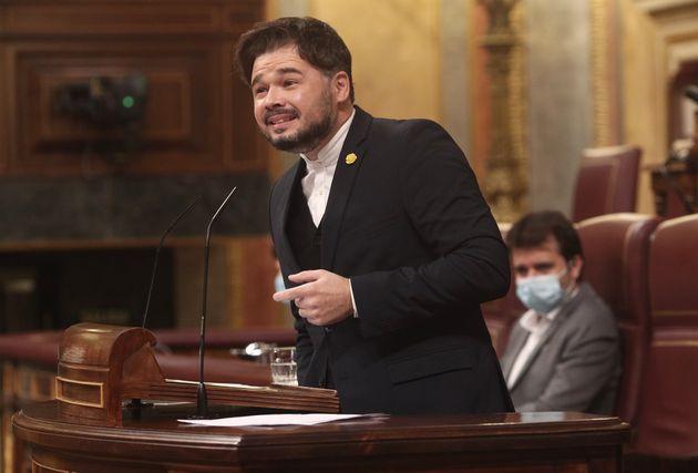 Gabriel Rufián en el