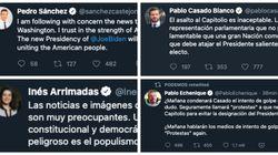 Los políticos españoles, preocupados por el asalto al Capitolio de