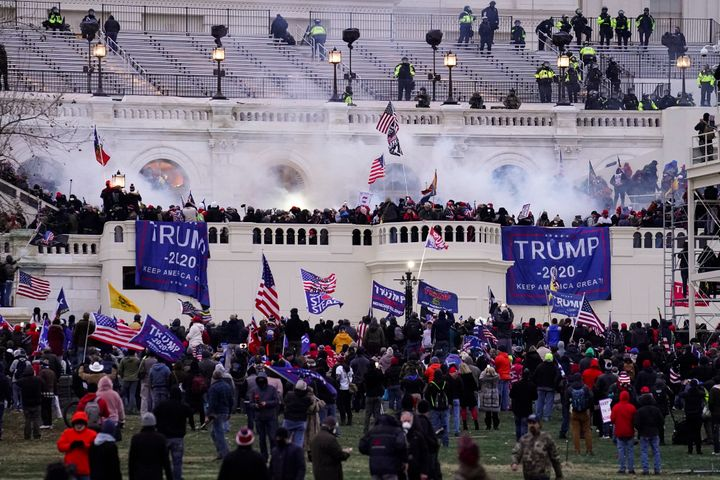 Rioters loyal to President Donald Trump storm the Capitol on Wednesday.