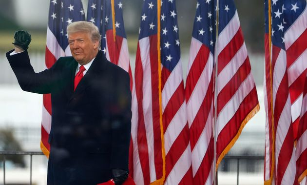 President Donald Trump arrives at the