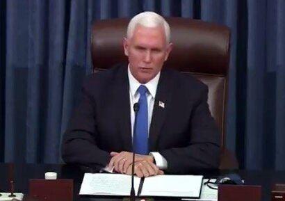 審議再開にあたり、トランプ支持者らを非難するペンス副大統領